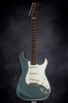 Fender Custom Shop Dual Mag Relic Strat - Aged Lake Placid Blue image 2