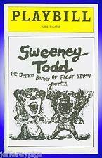 Playbill Sweeney Todd | Angela Lansbury, Len Cariou, Victor Garber, & Sarah Rice