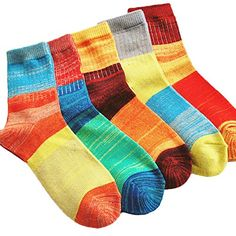 Generic Womens New Design Cotton Knit Casual Socks 5 Pairs in Pack WZW0029 5 pairs ** Check out the image by visiting the link.