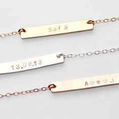 Sweet & personal jewellery - a delicate nameplate necklace