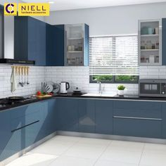 L-shaped, U-shaped, Straight or Parallel - Kitchen Designs for Your Home - Get in touch today Parallel Kitchen Design, Kitchen Tiles Design, Modern Kitchen Design, Interior Design Kitchen, Home Decor Kitchen, L Shaped Kitchen Interior, L Shape Kitchen, L Shaped Modular Kitchen, L Shaped Kitchen Designs
