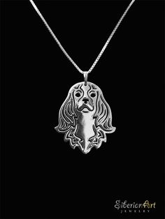 Cavalier King Charles - sterling silver pendant and necklace