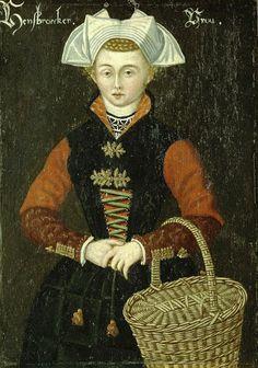 Vrouw uit Hensbroek, anoniem, 1550 - 1574 #WestFriesland #Koggenland