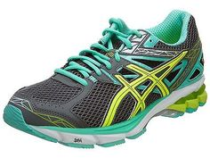 Asics Gt-1000 3 Womens T4K8N-7904 Mint Grey Yellow Running Shoes Wmns Size 5