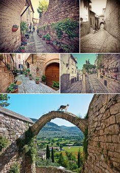 Beautiful Spello in Umbria, Italy