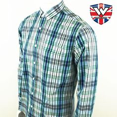 Vintage Long Sleeve Button Down Shirt by Warrior Clothing- WALLIS