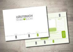 """Gästebuch+""""Zeitstrahl""""+Fragen+an+die+Gäste+-+PDF+von+Mazet+Design+auf+DaWanda.com"""