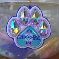 Earrings this is an interesting way to use a heart cab. What a neat idea!!!Good job beader!!!