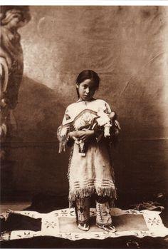 Katie Roubideaux I Rosebud I Sioux (1890-1991) I Age 8 I Katie Blue Thunder was…