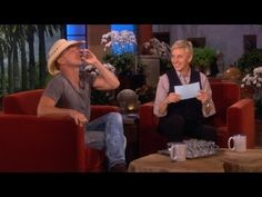 What happens when you put country star Kenny Chesney and comedian Ellen DeGeneres together? You get lots of laughter and a whole lot of fun, plus a lot of drinking.