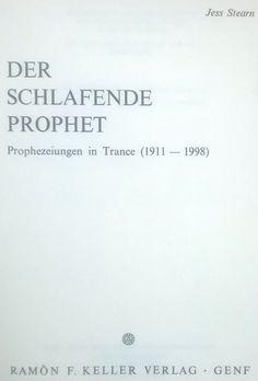 Buy Very rare Hardcover German translation of Edgar Cayce: The Sleeping Prophet. Der Schlafende Prophet.for R1.00