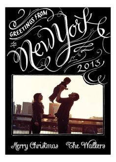 Greetings from New York Christmas Photo Card