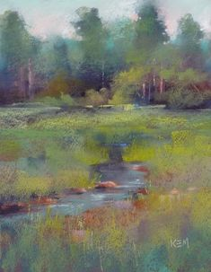 Painting my World: Painting with the Terry Ludwig Southeastern Pastels...the Marsha Savage Set...mini demo