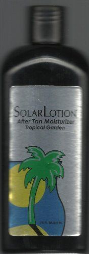 Solarlotion Tropical Garden After Tan Moisturizer 7.5oz (2 Pack) by SOLARLOTION. $7.99. TROPICAL GARDEN AFTER TAN MOISTURIZER. Contains VITAMINS A, D & E To protect skin from free radicals and provide NATURAL SOFTNESS AND SMOOTHNESS.