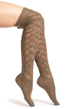 Lemon 'Frosted' Crochet Over the Knee Socks   Nordstrom