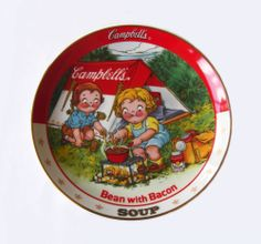 The Campbell Kids BEAN WITH BACON SOUP Danbury Mint Collectible Plate    http://stores.ebay.com/The-Rolling-Wave?_trksid=p2047675.l2563