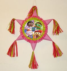 Super Why pinata. pink by themodernpinata on Etsy https://www.etsy.com/listing/500207505/super-why-pinata-pink