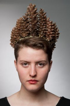 Pinecone Tiara by GiveMeLoveAndWork on Etsy, $55.00