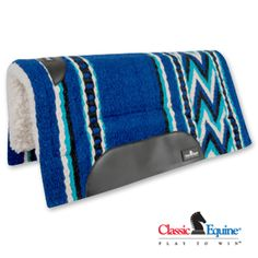Classic Equine SensorFlex Wool Top Pad Turquoise/Black $115.99