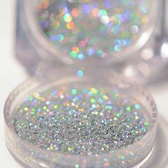 Box 2g Gorgeous Shiny, Holographic Silver Laser Nail Glitter Powder, Dust Powder Manicure Nail Art Glitter Decoration (Etsy) by NailOfLady on Etsy