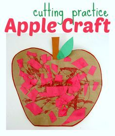 apple crafts for kids- to go with Ten Apples Up On Top by Dr Seuss