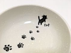 Japanese Dish Plate Minoyaki dinnerware Cat and PawPrint Made in Japan   | eBay