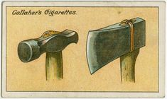 How to secure loose hammer and axe heads. From New York Public Library Digital Collections.