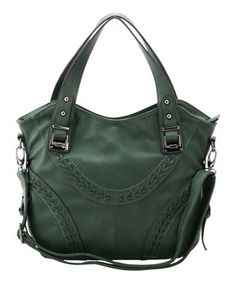 This Adhesion, LLC Forest Green Leaf Tote by  is perfect! #zulilyfinds
