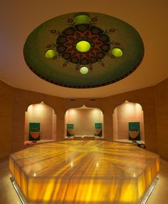 """Spa in Berlin - Hamam """"Located in a former chocolate factory, this women's spa provides an introduction to Turkish culture with traditional music, tea and snacks. Treatments include waxing, massages, """"Kese"""" body peelings and """"Sabunlama"""" rubdowns. In the hamam area, granite bowls and tiles with intricate designs line the walls where women bathe and enjoy the pleasant setting"""" - My Little Travelling Book"""