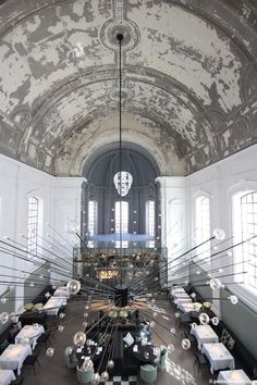 Piet Boon Studio Transformed A church Into 'The Jane' Restaurant in Antwerp (photo by Richard Powers)