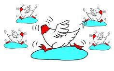Compartimentos estancos - pollos descabezados