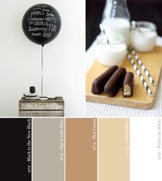 Black and White and Neutral All Over. Warm muted tones and black Color Palette