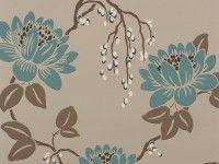 Kimura Wallpaper Linen - Kimura Wallpapers : Romo Designer Fabrics & Wallcoverings, Upholstery Fabrics