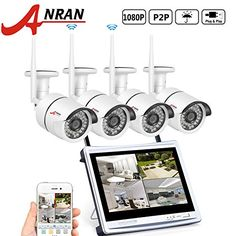 From [hd Wireless Nvr] Anran Wifi Nvr With Monitor Wireless Security Camera System With 4 Waterproof Outdoor Night Vision Ip Video Surveillance Camera Plug And Play No Hard Drive Video Surveillance Cameras, Cctv Surveillance, Security Surveillance, Security Alarm, Security Service, Video Security, Best Home Security Camera, Wireless Security Camera System, Wireless Home Security Systems