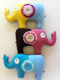 These are so cute. Sweet Tooth Elephants..put the tooth in the pocket and wait for the reward...