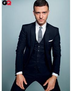 Justin Timberlake in three piece suit The GQ Guide to Suits: Style: GQ Fashion Mode, Suit Fashion, Mens Fashion, Groom Fashion, Three Piece Suit, 3 Piece Suits, Navy 3 Piece Suit, Sharp Dressed Man, Well Dressed Men