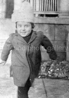 Vintage Photo Smiling Boy Black & White Photo by foundphotogallery