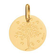Médaille arbre aux cœurs or jaune - AUGIS