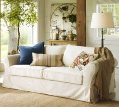 Living Room. Beautiful Vintage Style For Amazing Living Room Design: Beige Sofa…
