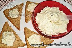 Este Patê de Ricota e Gorgonzola é uma delicia super saudável, leve e fácil de fazer! #Receita aqui: http://www.gulosoesaudavel.com.br/2011/08/09/pate-de-ricota-e-gorgonzola/