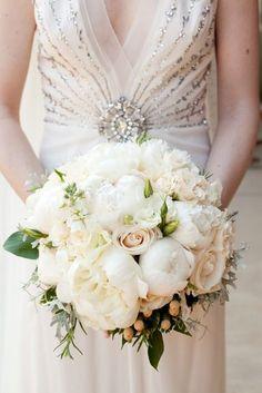 white peony + blush rose | Robin Lin