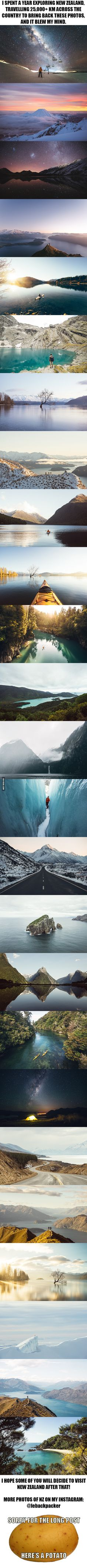 It´s so beautiful, I´m crying T^T -  I spent 365 days photographing New Zealand and it blew my mind. - 9GAG