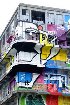 Pantin - bâtiment des douanes, quai de l'Aisne - street art - da cruz