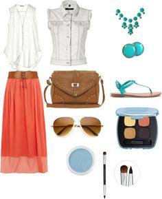 """Oceanic Coral"" by purplesagerocks on Polyvore"