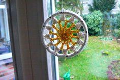 #Christmas #crochet #ornament: Circular hanger / Gosyo crochet motif