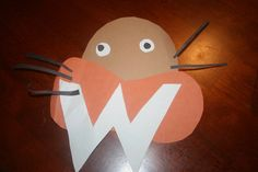 Letter W = Walrus. We made these fun walruses!