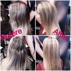 Foil to balayage conversion, balayage, dimensional hair, blonde hair, salon bogar, tracy dion