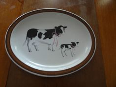 Cow Platter , made by Homer Laughlin China