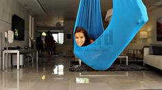 InYard Unique High Quality Elastic Hammock Swing for Kids, Made of Lycra Fabric. Great to Be Used Indoor & Outdoor – Yard, Camping, Travel, Picnic. Good for Sitting, Standing& Lying Down Can Be Used As Special Treatment for Autism, Adhd, Aspergers, Sensory Problems. Machine Washable. (Dark Blue, Light Blue, Green, Purple, Lilach).