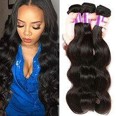 BP Hair Brazilian Body Wave Virgin Hair 3 Bundles 100 Unprocessed Remy Human Hair Extensions Weft Natural Black Color 7a Grade 16 18 20inches >>> For more information, visit image affiliate link Amazon.com